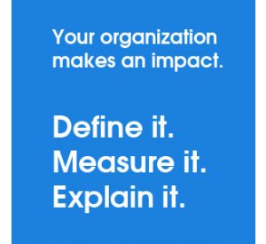 Learn to measure your organization's impact